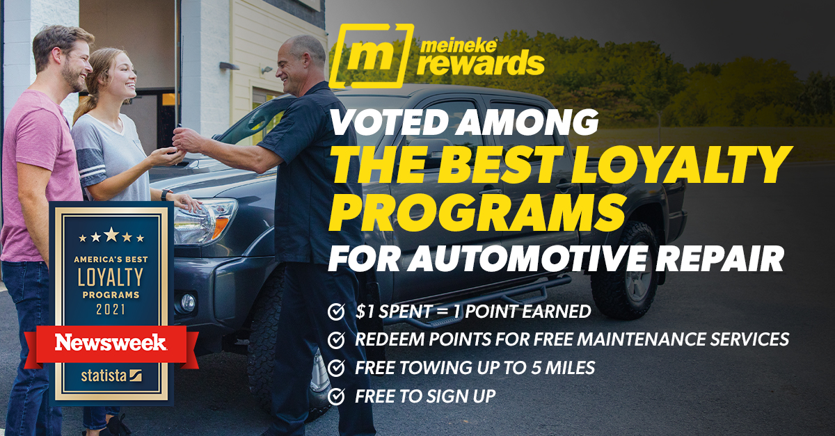 Newsweek Recognizes Meineke as One of America's Best Loyalty Programs For Automotive Repair